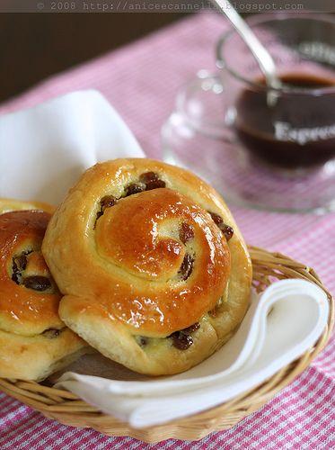 Anice&Cannella: Girelle alla Crema e Uvetta (o Pain aux Raisin)