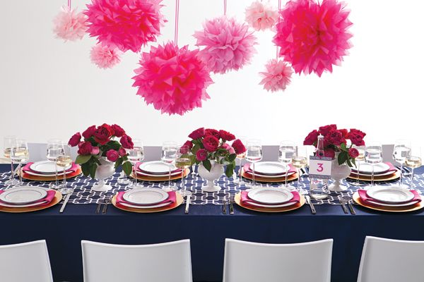 Blue And Pink Wedding Ideas: Navy Blue + Fuchsia Wedding Ideas