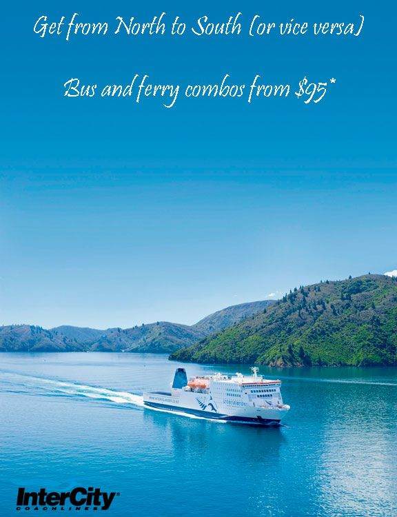 No car ferry? No problem! Grab one of our bus and passenger ferry combo passes and your North-South Island travel (or vice versa) is all set!  http://www.intercity.co.nz/bus-and-ferry-combos/  #NewZealand #travel