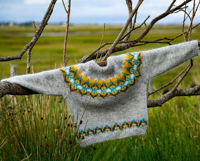 Ravelry: Lichen Lopapeysa Sweater Kit pattern by Sarah Berry