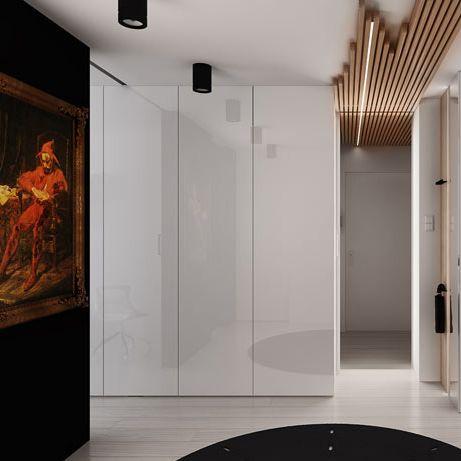 Entrance hall design in flat POLAND - archi group. Holl wejściowy w mieszkaniu