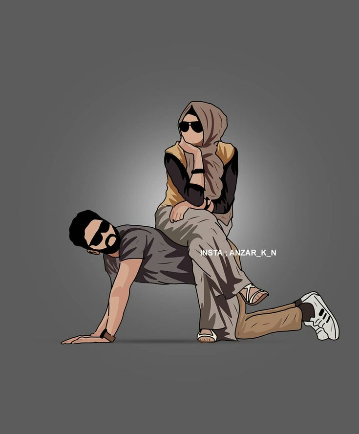 Pin by Princesz on Muslim couple art   Love cartoon couple ...