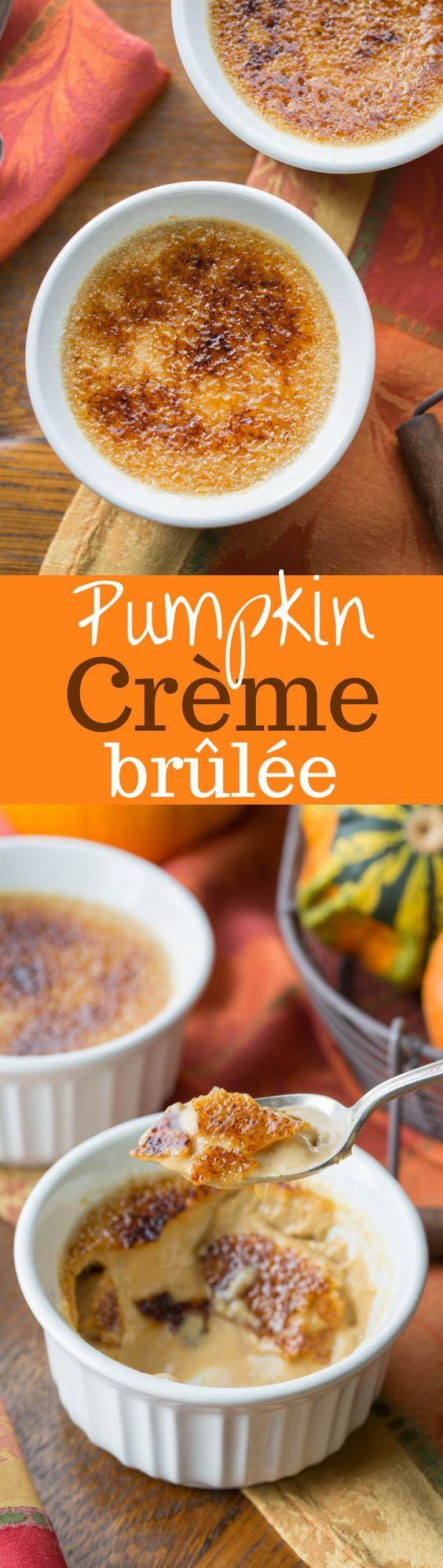 Pumpkin Crème Brûlée ~ a classic dessert turned into a delightful ...