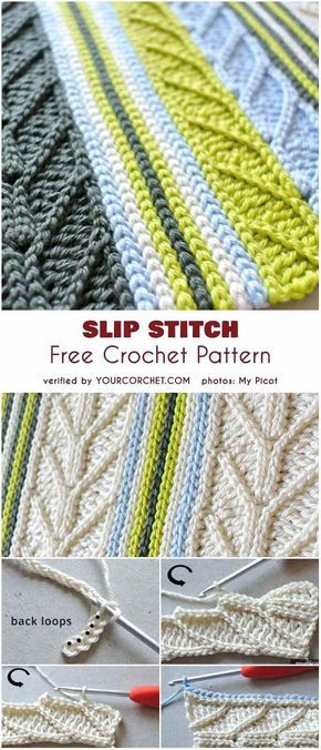 Slip Stitch Free Crochet Pattern Häkeln Pinterest