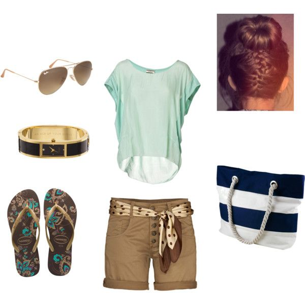 Summer by own-style on Polyvore featuring moda, By Malene Birger, Havaianas, Kate Spade and Ray-Ban