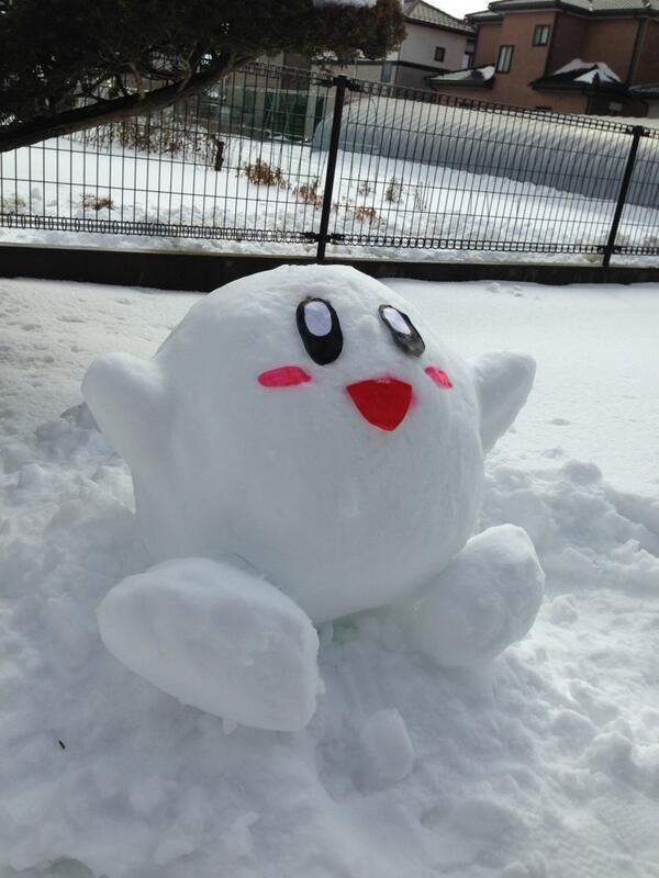 Kirby: | 25 Snow Sculptures From Tokyo's Biggest Blizzard In Decades.