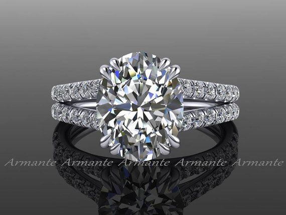 Forever Brilliant Moissanite Engagement Ring, 18K White Gold Oval Engagement Ring, Diamond Engagement Ring, Wedding Ring RE0067W. https://www.etsy.com/listing/195055034/forever-brilliant-moissanite-engagement?ref=shop_home_active_37