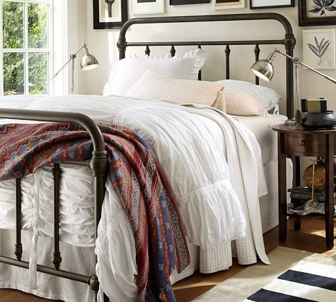 Guestroom bed. LOVE IT!! Coleman Bed | Pottery Barn