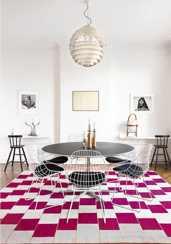 Beautiful dining room. The rug really does tie the room together.