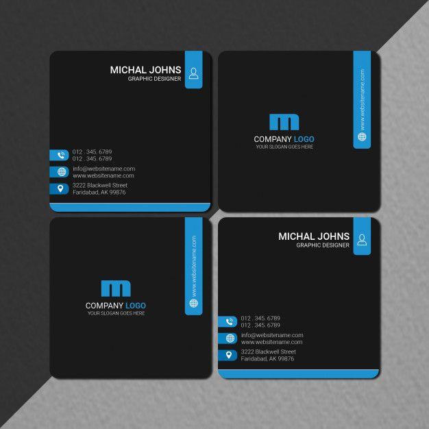 Square Size Business Card Design Business Card Design