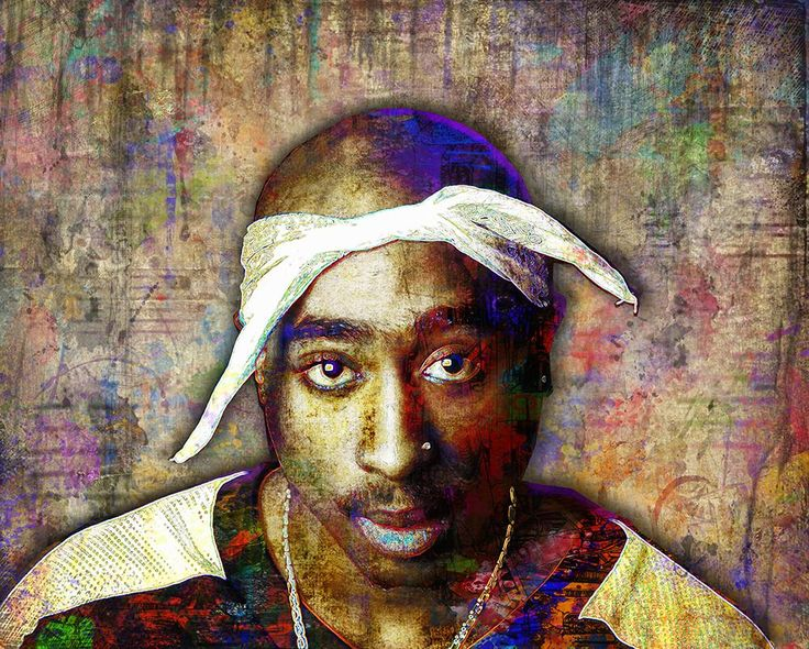 Tupac Poster, Tupac Close Up Portrait Gift, Tupac Memorial Colorful La                      – McQDesign