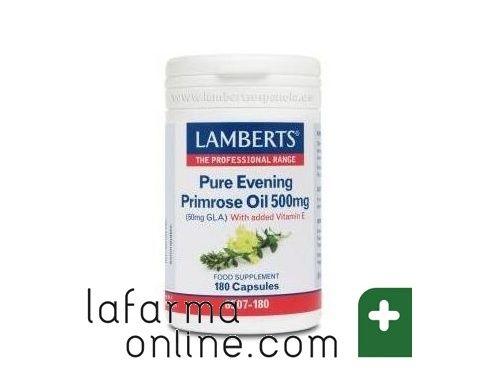 Aceite De Primula Onagra Puro 500 Mg Con Vitamina E 180