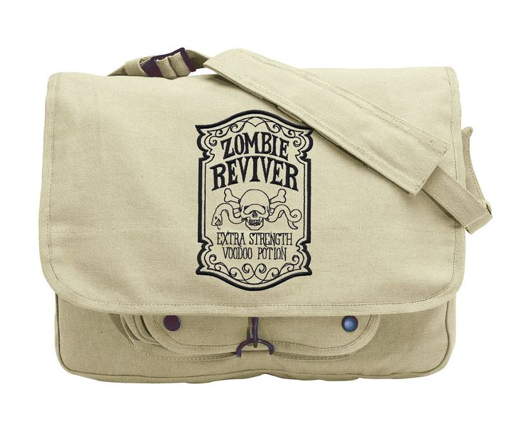 ApotheScary - Zombie Reviver Embroidered Canvas Messenger Bag