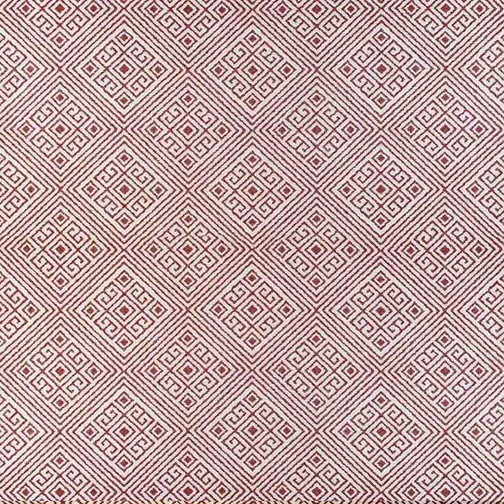 Warwick Fabrics : SIMBRA, Colour CHILI