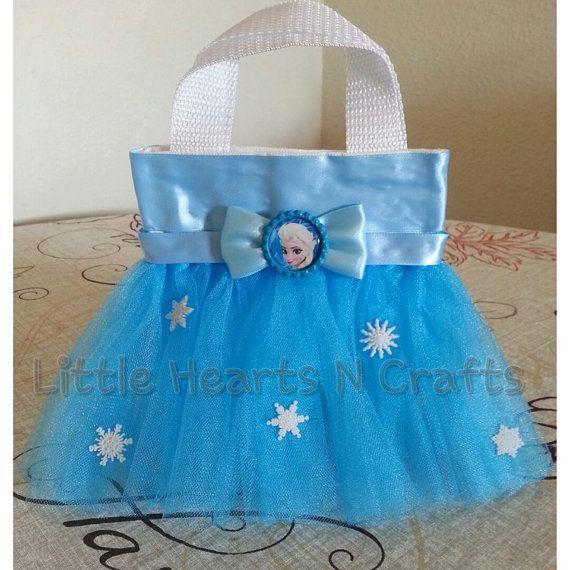 Elsa Frozen Princess Inspired Tutu Purse por LittleHeartsNCrafts, $9.50