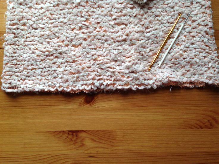 Как обработать низ изделия из вязаного трикотажа