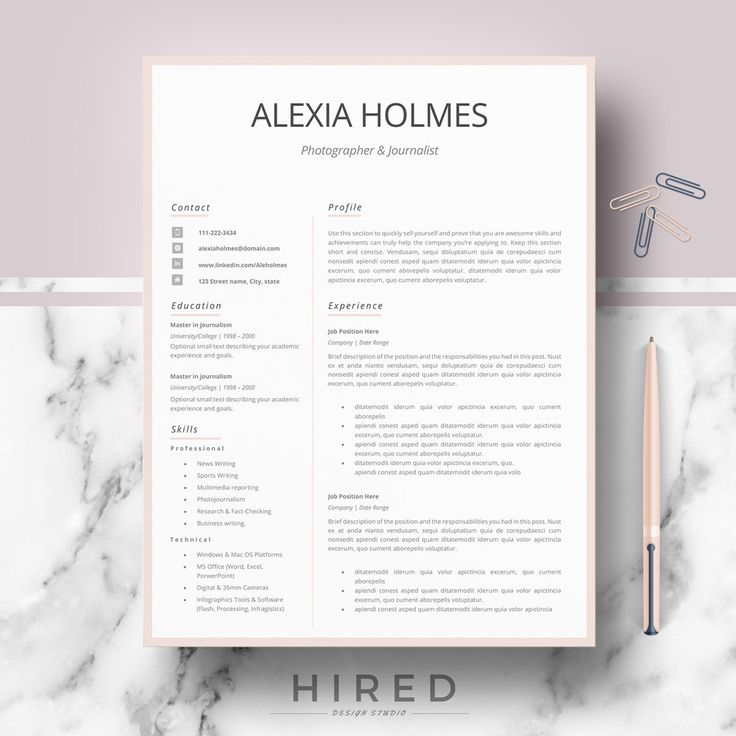 download resume templates for mac