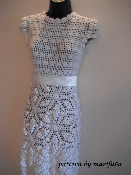 Crochet Wedding Dress Pattern Pdf For Sale Really Pretty
