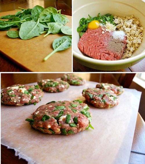 Spinach and Feta Burgers with Garlic Aioli • A Sweet Pea Chef