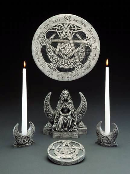 Haxon witchcraft symbols and rituals | Statuary at New Moon Occult Wicca Witchcraft Pagan Shop