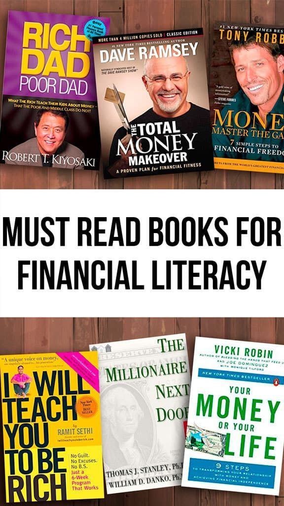 "The biggest obstacle I hear about from my readers is money... Yet many of us don't take the time really educate ourselves on the matter and become more financially literate. These are a few of the top financial literacy books that I would consider required reading for anyone trying to ""master"" their money."