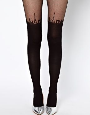 ASOS Suspender Paris Skyline Tights -- I've them, really thin above the skyline but simply outstanding!