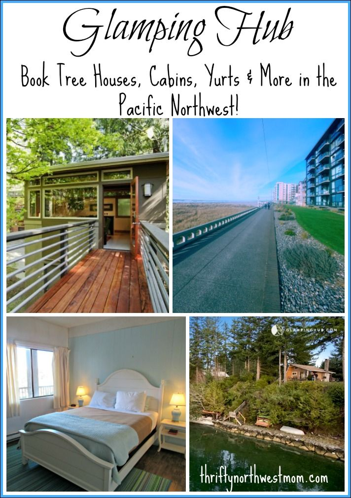 Try Glamping Hub for vacation rentals in the Northwest with tree houses, cabins, yurts & more around Seattle & Portland areas.