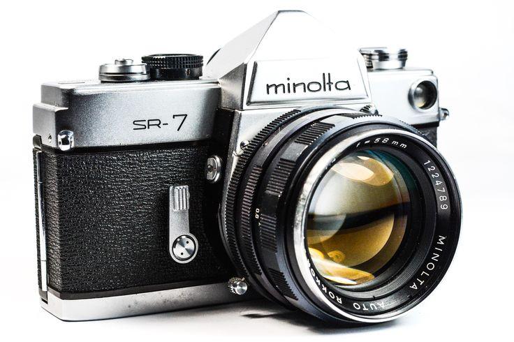 Minolta SR 7 35mm SLR Camera with Minolta Rokkor PF 58mm Lens #Minolta #Camera #Vintage #Photography #Filmphotography