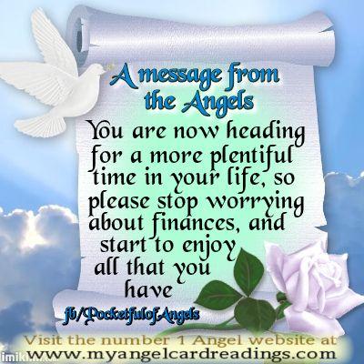 Angel message free angel card angel guidance angel card reading