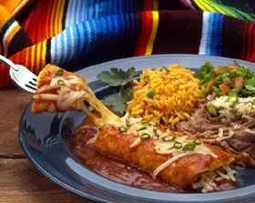 The Foundation of Tex-Mex  Guacamole  Spanish rice  Refried beans  Chili Sauce or Chili Gravy
