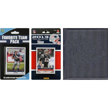 C Collectables NFL New England Patriots Licensed 2013 Score Team Set and Favorite Player Trading Card Pack Plus Storage Album