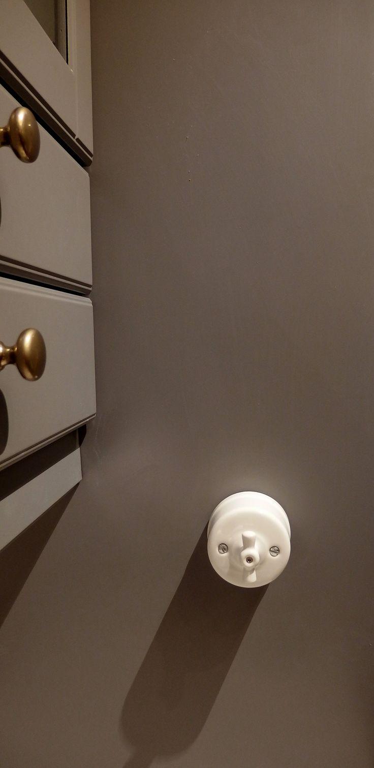 ceramic one way switch #ceramic #glazed #porcelain #rotary #switch #wall #vintage #retro #traditional #hardware