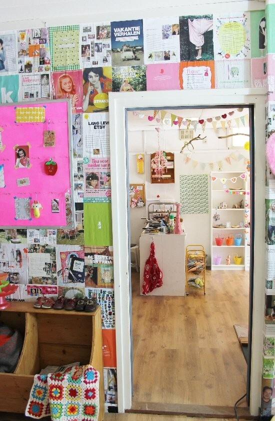 Tijdschriften muur