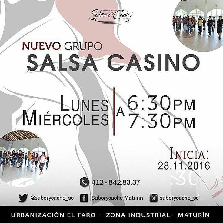 @saborycache_sc INICIA EL 28 DE NOVIEMBRE NUEVO GRUPO BÁSICO DE SALSA CASINO. quieres aprender a bailar? O simplemente mejorar tus pasos ven a nuestra academia y se parte de esta familia.  INSCRIPCIÓN TOTALMENTE GRATIS MENSUALIDAD 1500bsf.  Y si traes a dos personas a inscribirse te queda en 1000bsf a ti.  Te esperamos.  Menciona a tus amigos #maturin #venezuela #salsacasinovenezuela #salsacasino #basico #aprende #curso #clase #baile #taller #participa #mongas #academia #saborycache…