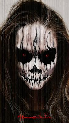 www.LetzMakeup.com: Evil Demon; Halloween Makeup Tutorial.