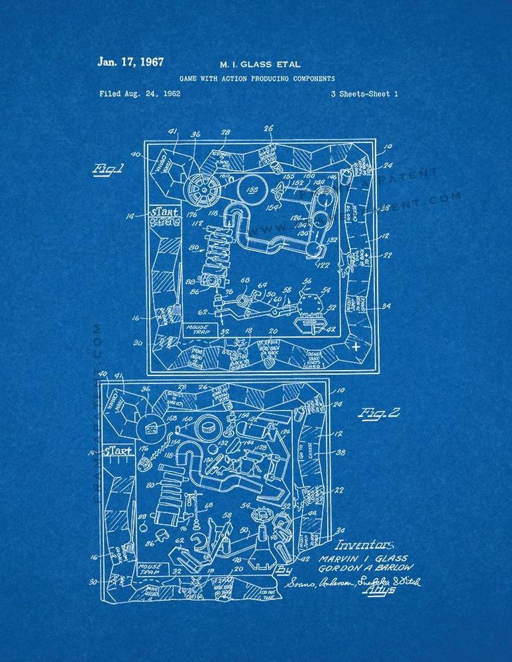 7 best board game patent prints images on pinterest board games mousetrap board game patent print blueprint 5x7 malvernweather Gallery