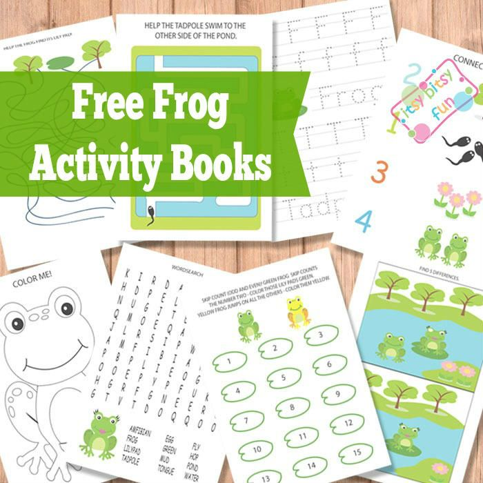 Free Printable Frog Activity Books (Worksheets)