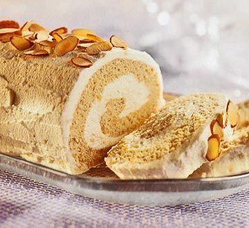 New Year's Almond Log Cake