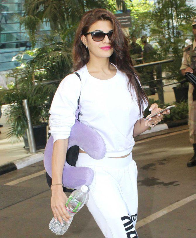 Jacqueline Fernandez at Mumbai airport. #Bollywood #Fashion #Style #Beauty #Hot #Sexy