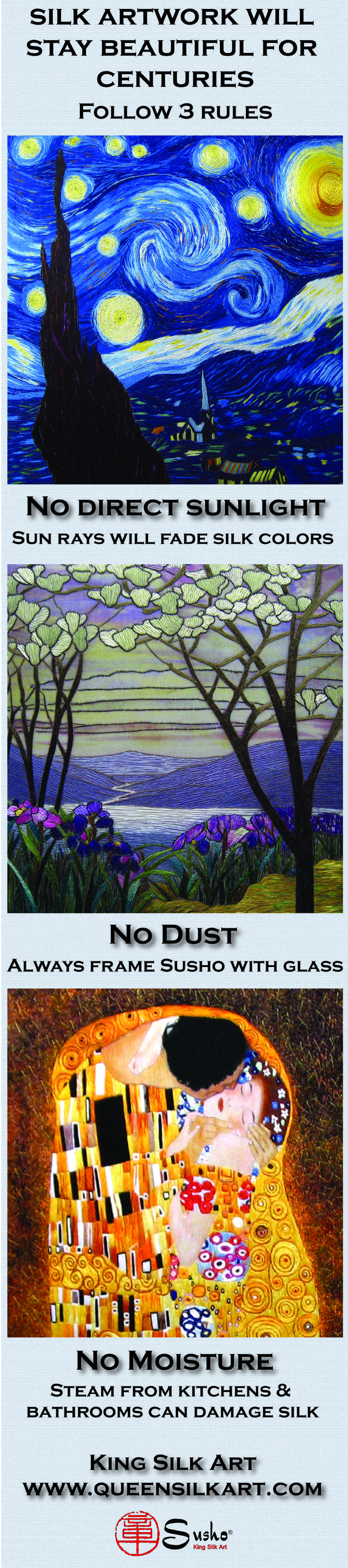 King Silk Art makes silk embroidery wall art, completely hand-stitched by Master Artists in Suzhou, China. Asian #decor for Feng Shui, #Gifts & #Art Collectors. #Handmade http://www.queensilkart.com/categories/Designer-Gallery/