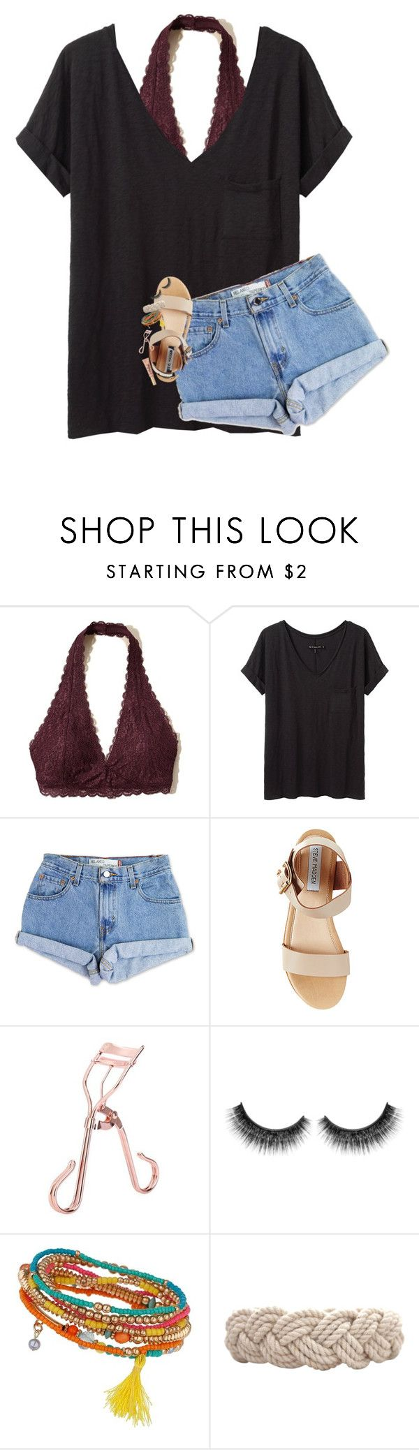 """went shopping today"" by lindsaygreys ❤ liked on Polyvore featuring Hollister Co., rag & bone/JEAN, Levi's, Steve Madden, Miss Selfridge and Swell"