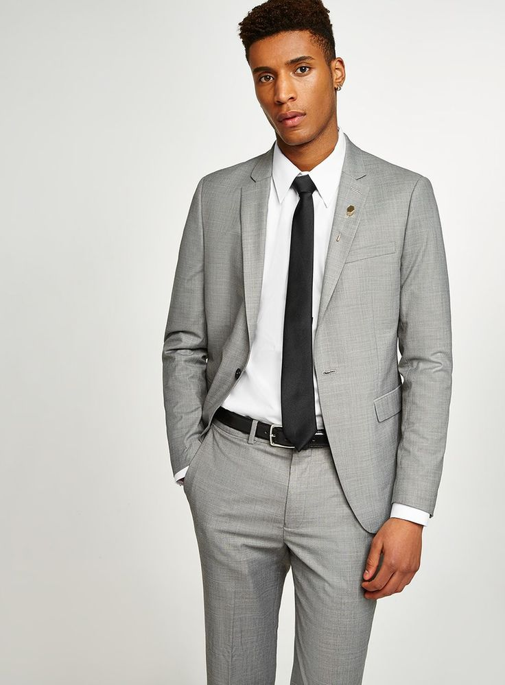 Gray Marl Skinny Fit Suit