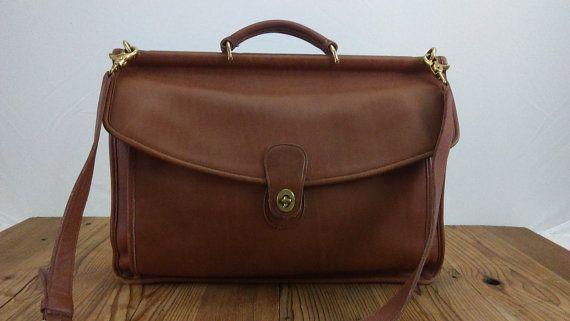 Vintage Coach Messenger Bag Briefcase by vintagejunkeez on Etsy
