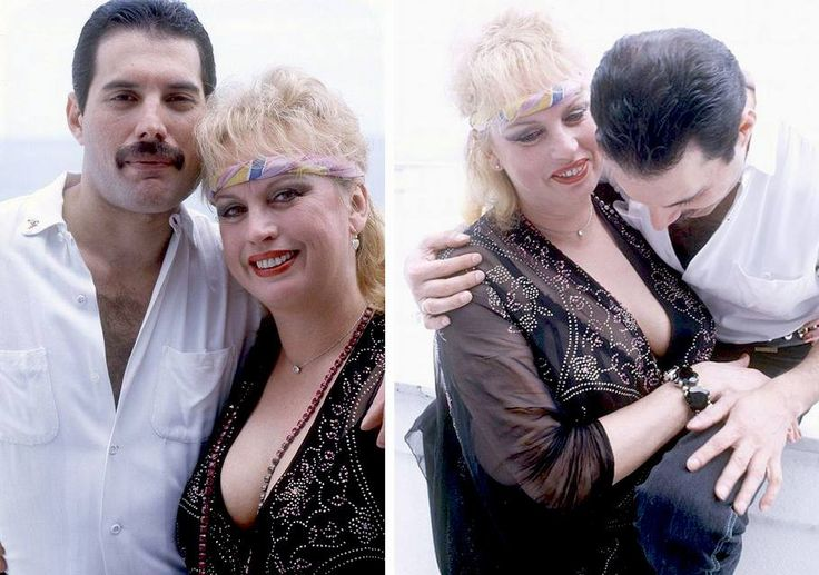 Freddie and his girlfriend Barbara Valentin.