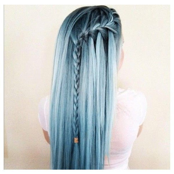 Candy colored hair braid Hair ❤ liked on Polyvore featuring beauty products, haircare, hair, pictures, hair styles, hairstyles, people and backgrounds