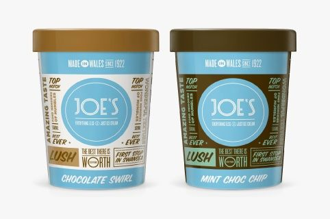 Joe's ice-cream packaging by Unreal. Never seen this used for food packaging! This is great!