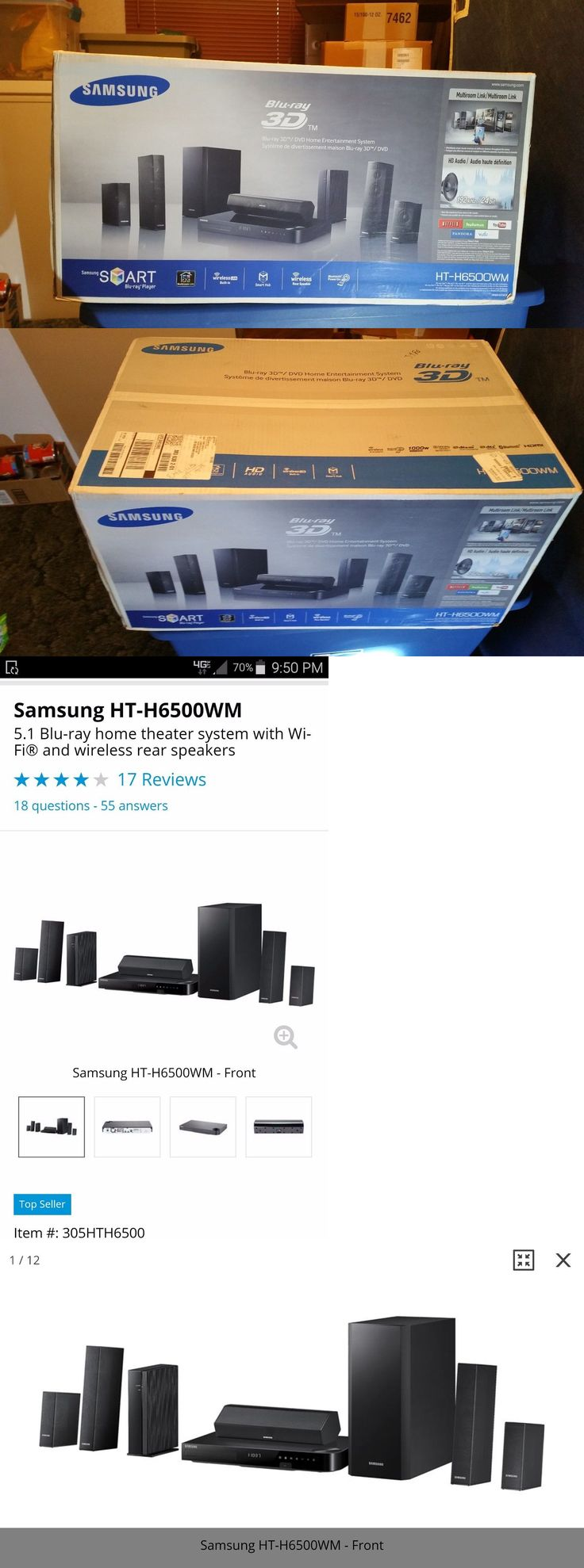 Home Theater Systems: Samsung 1000 Watt Blu-Ray,Dvd Wireless Rear Speakers Surrond Sound Home Theater BUY IT NOW ONLY: $430.0