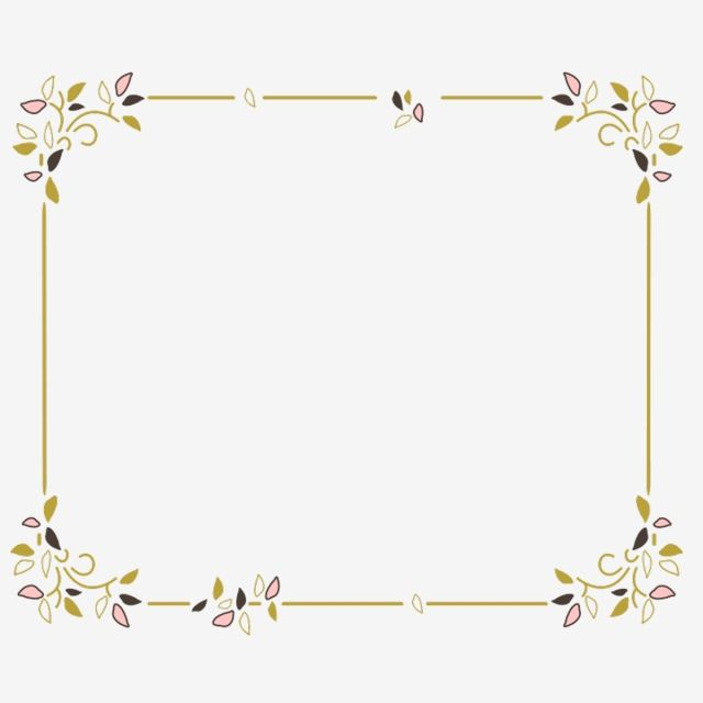 Floral Border Frame Floral Flourish Frame Png Transparent