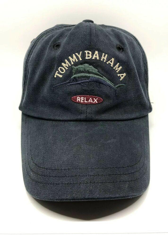 da6374764 Tommy Bahama Relax Cap Hat Adult Adjustable 70% Polynosic 30% Polyester  Blue | eBay