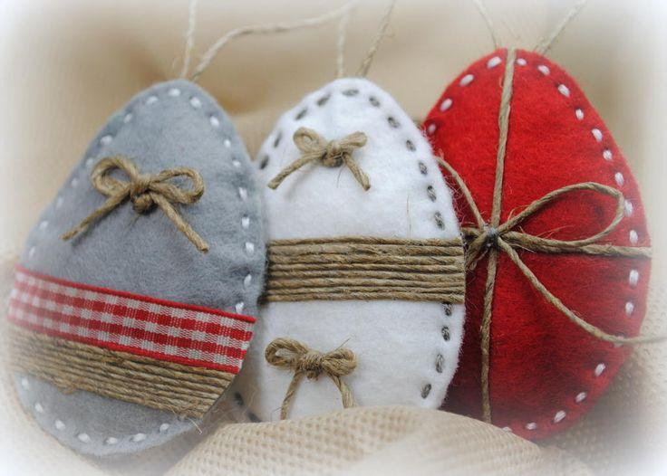 Pisanka Na Wielkanoc, Zawieszka, Filc, Rękodzieło